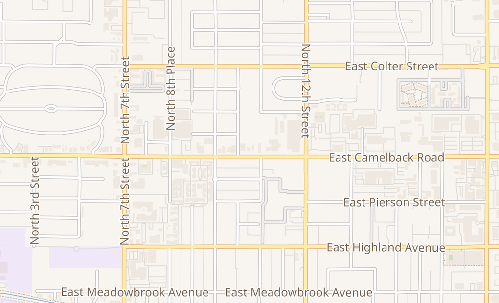map of 1040 E Camelback Rd Ste APhoenix, AZ 85014-3232