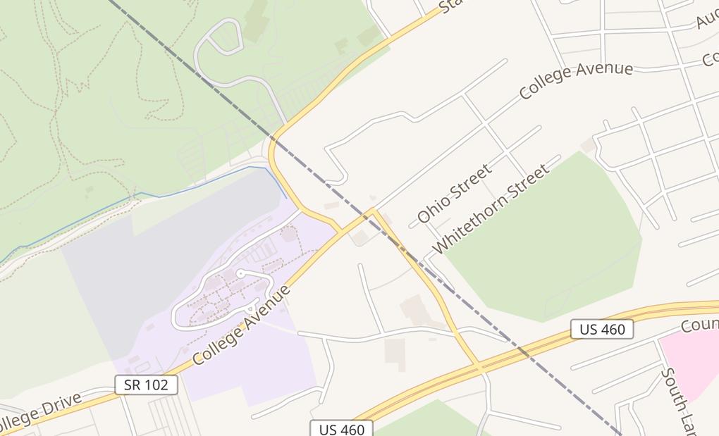 map of 4011 College AveBluefield, VA 24605