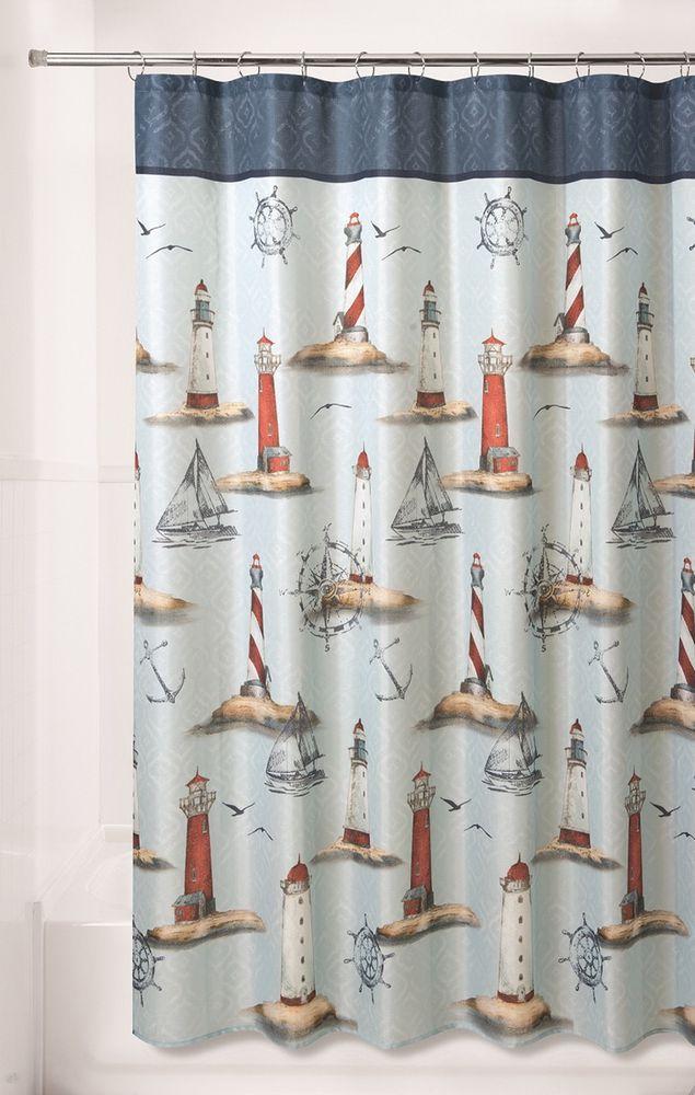 Essential Home Shower Curtain Sailing