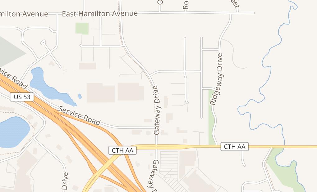 map of 3545 Gateway DrEau Claire, WI 54701