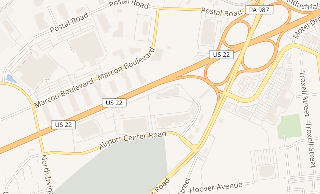 map of 917 Airport Ctr DrAllentown, PA 18109