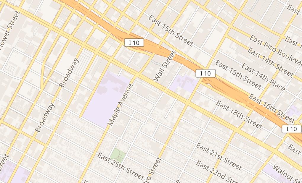 map of 482 E Washington BlvdLos Angeles, CA 90015
