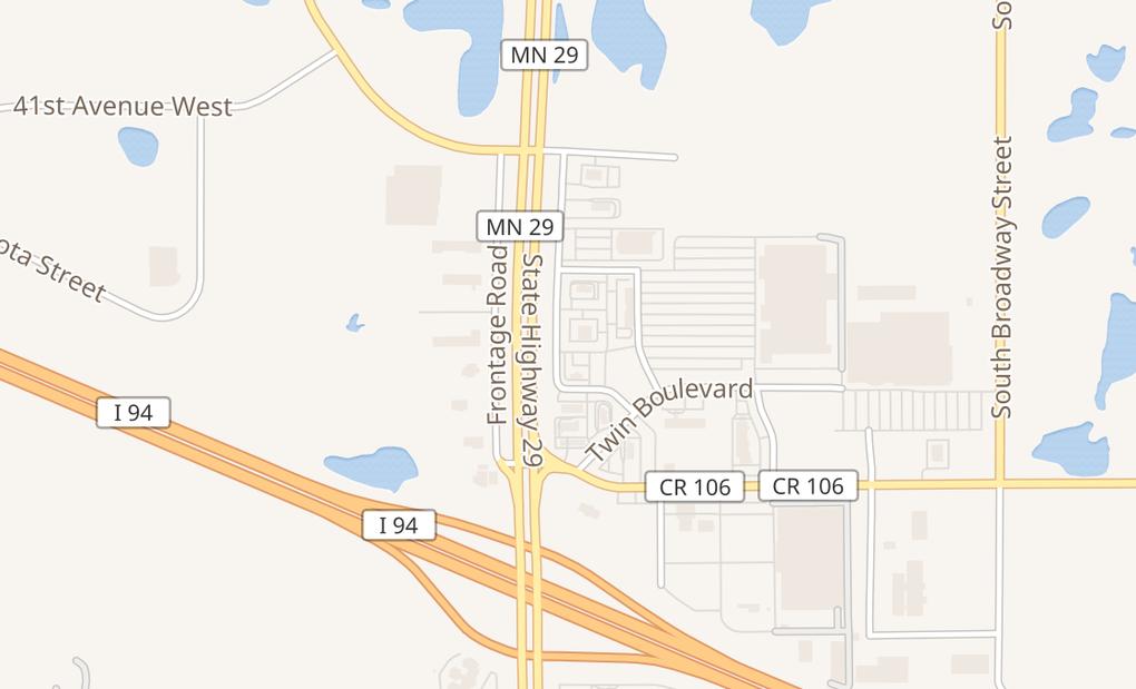map of 4617 Highway 29 S Ste 105Alexandria, MN 56308