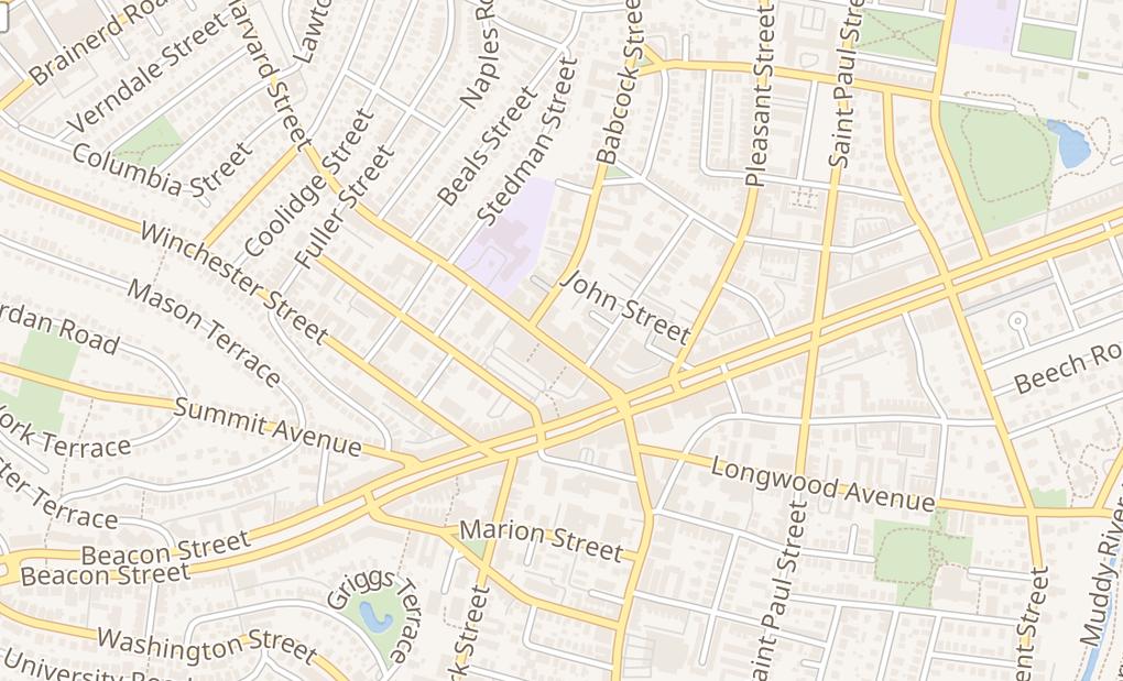 map of 301 Harvard StBrookline, MA 02446