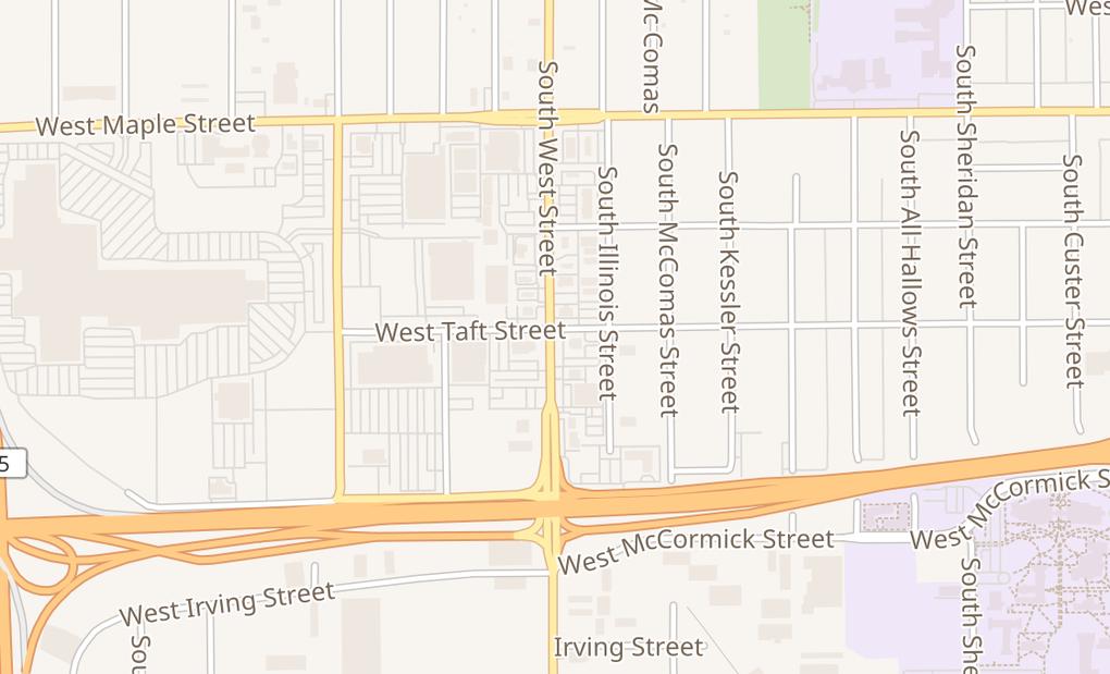 map of 530 S West StWichita, KS 67213