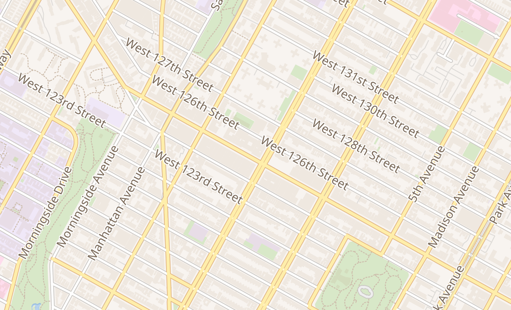 map of 209 W 125Th StNew York, NY 10027