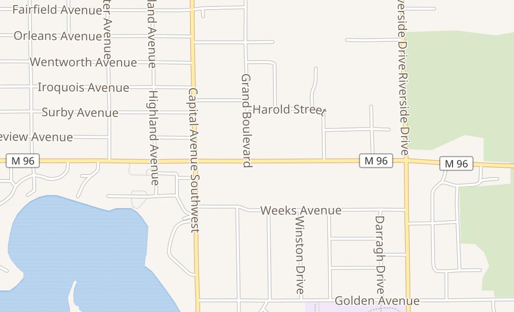 map of 65 Columbia Ave EBattle Creek, MI 49015