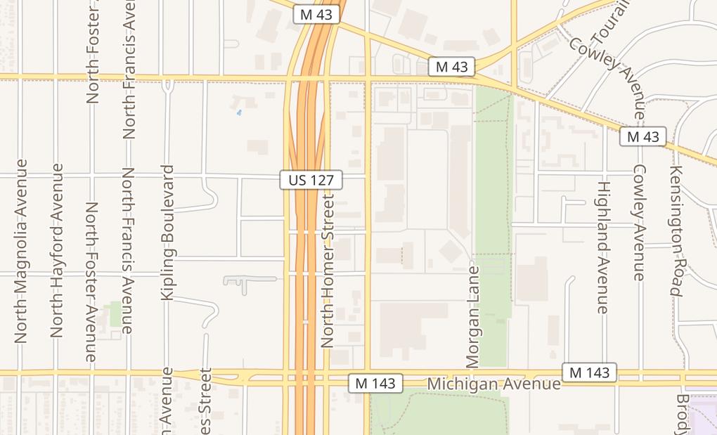 map of 401 N Clippert StLansing, MI 48912