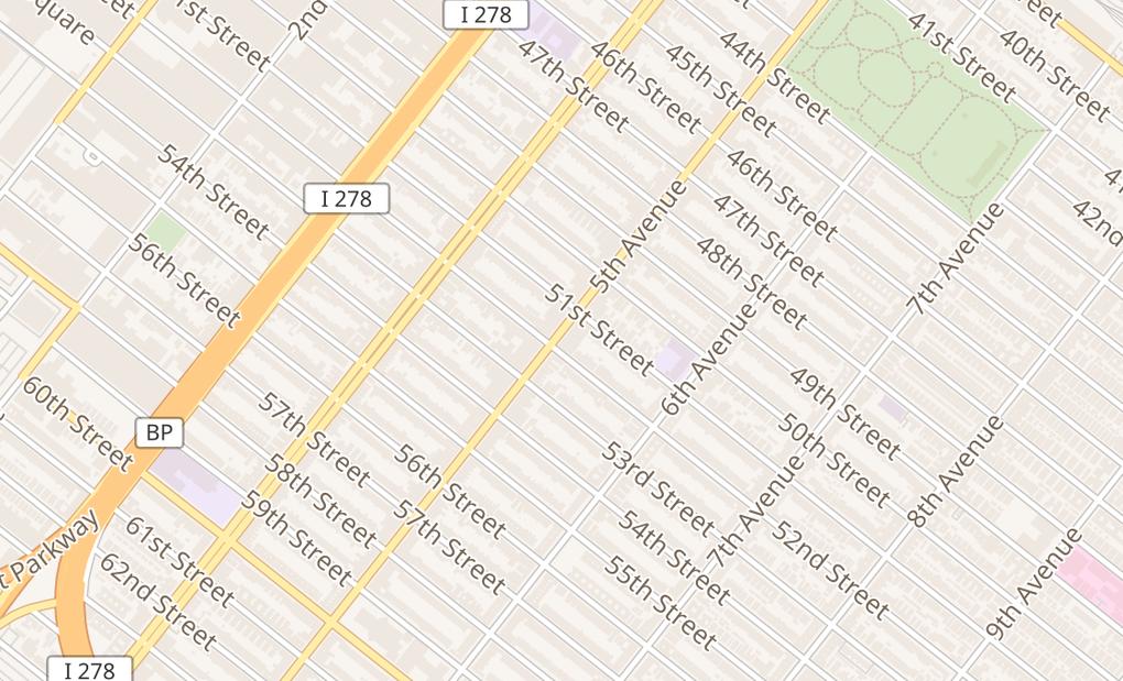 map of 5119 5Th AveBrooklyn, NY 11220