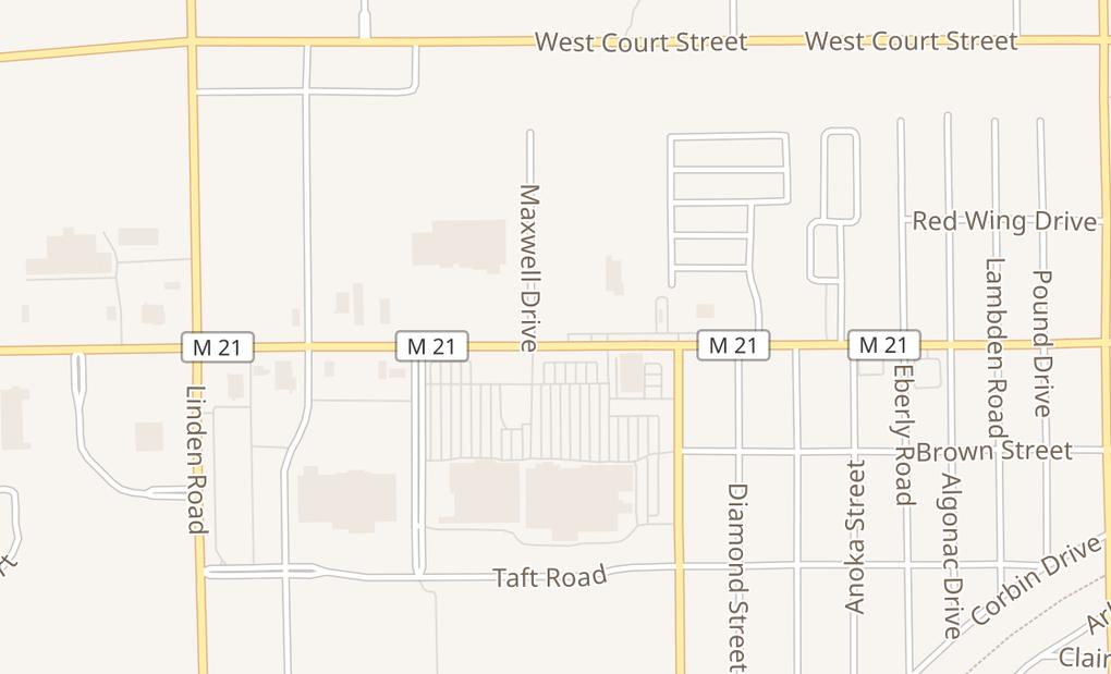 map of 4296 Corunna RdFlint, MI 48532
