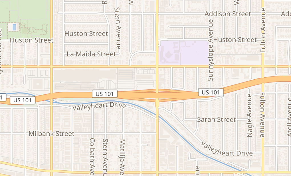 map of 14006 Riverside Dr Ste 273Sherman Oaks, CA 91423