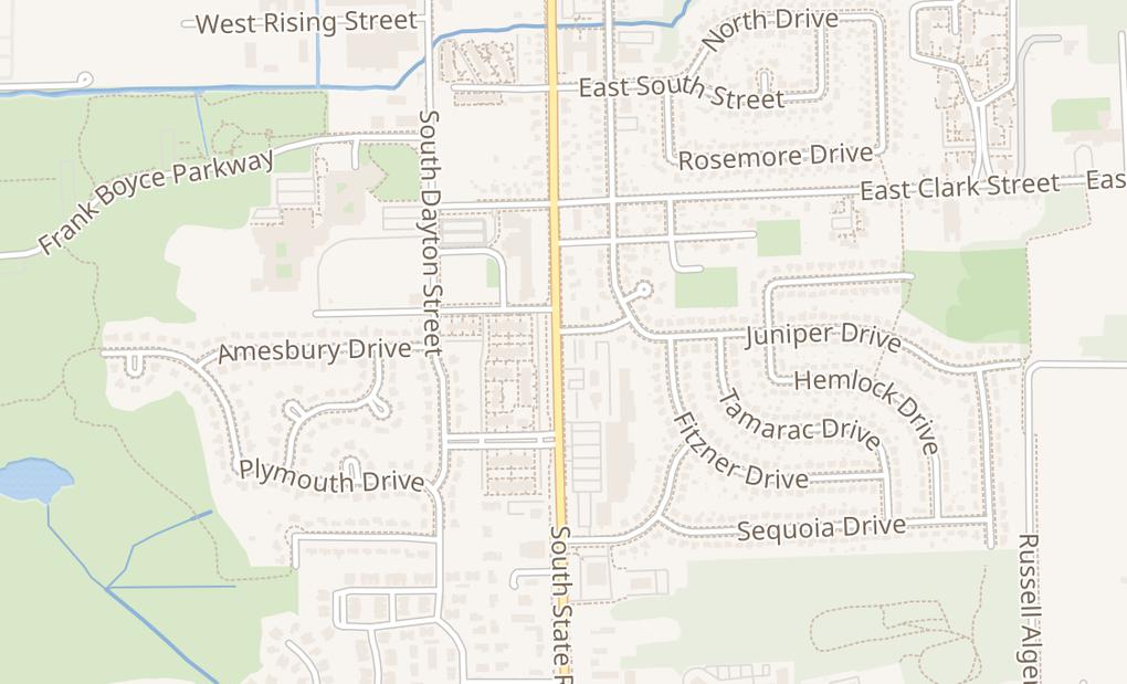 map of 701 S State RdDavison, MI 48423