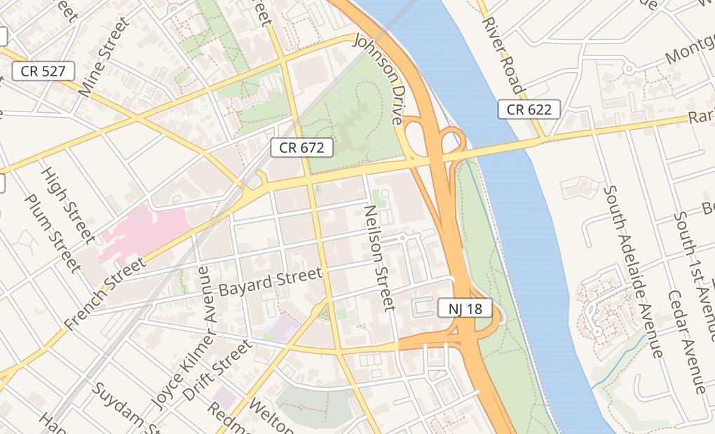 map of 377 George StNew Brunswick, NJ 08901