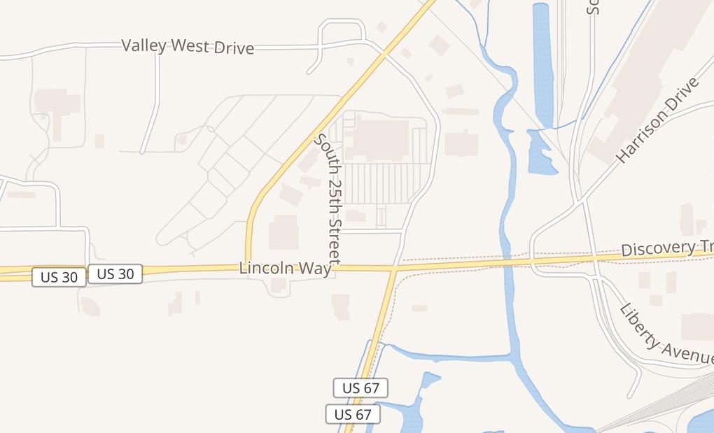 map of 2418 Virginia AveClinton, IA 52732