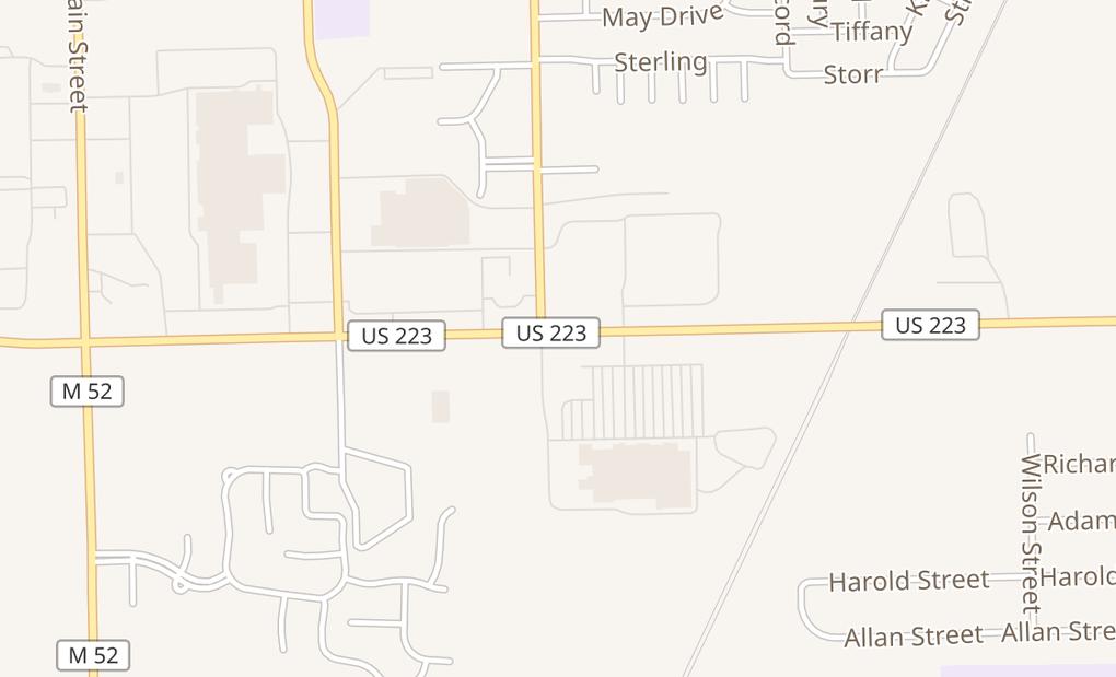 map of 1515 E Us Highway 223 Ste EAdrian, MI 49221