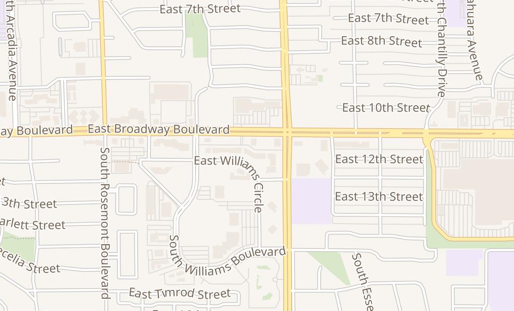 map of 5420 E Broadway Blvd Ste 244Tucson, AZ 85711