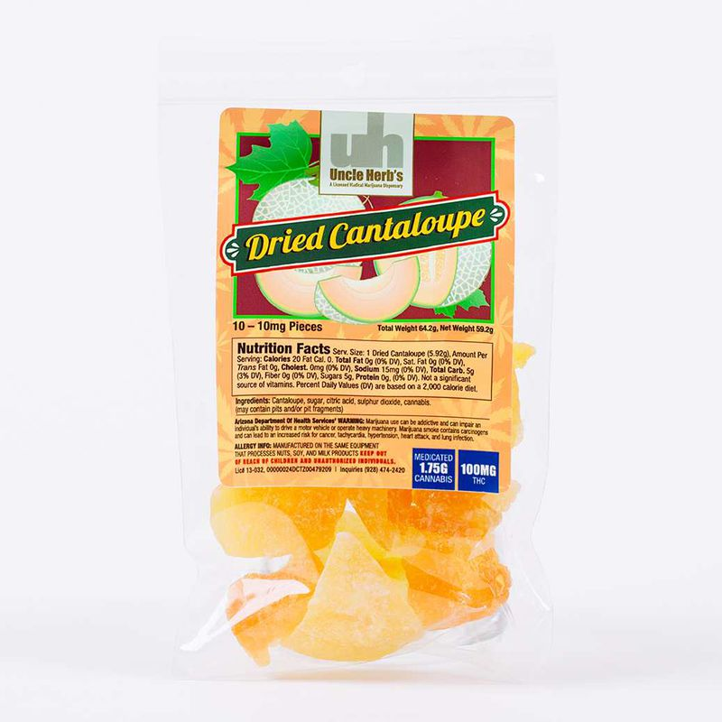 Dried Fruit | Cantaloupe | 100mg - Uncle Herbs
