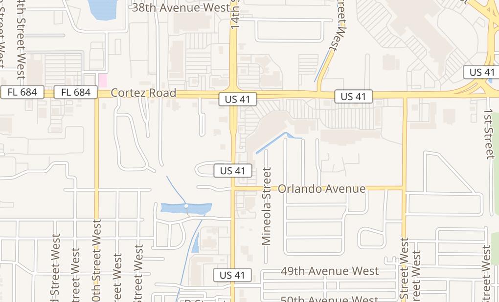 map of 4513 14Th St W Ste 203Bradenton, FL 34207
