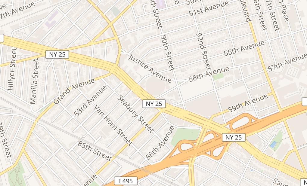 map of 8801 Queens BlvdElmhurst, NY 11373