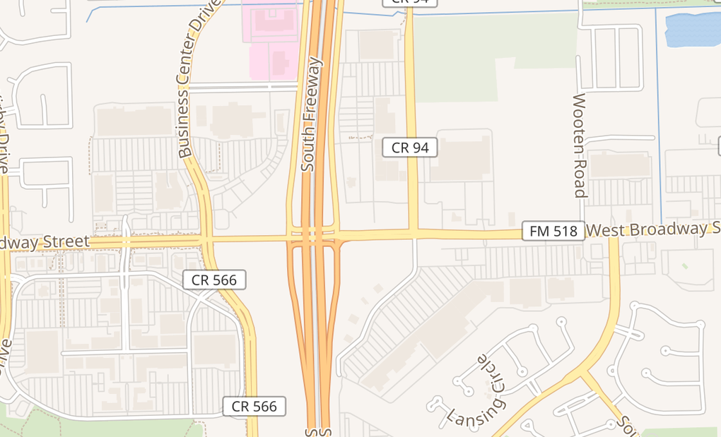 map of 10645 Broadway St Ste 121Pearland, TX 77584