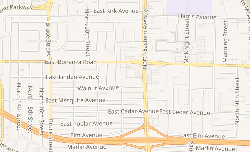 map of 2342 E Bonanza RdLas Vegas, NV 89101