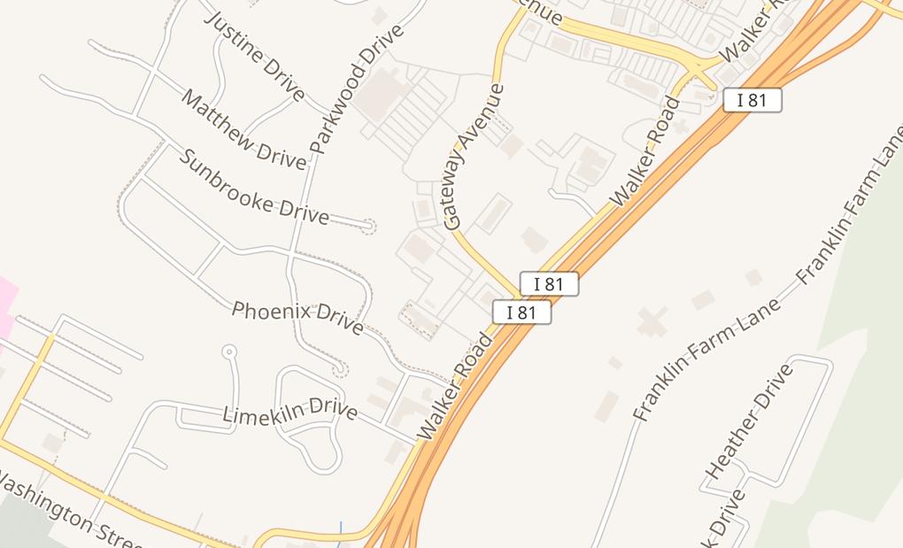 map of 450 Gateway AveChambersburg, PA 17201