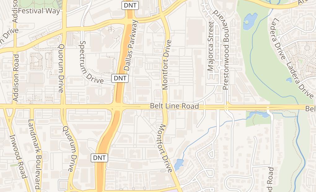 map of 5201 Belt Line RdDallas, TX 75254