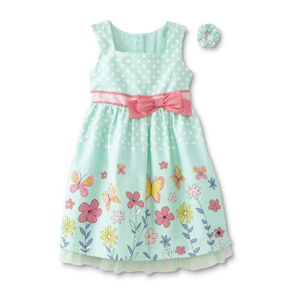 94ce3f4ba1a2e2 Toughskins Infant   Toddler Girls  Occasion Dress   Ponytail Holder - Polka  Dotat Sears Woodfield