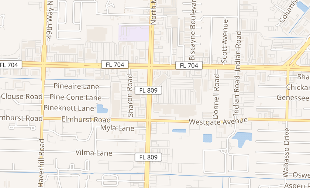 map of 1870 N Military TrlWest Palm Beach, FL 33409