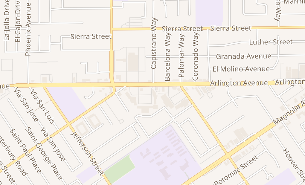 map of 5146 Arlington AveRiverside, CA 92504