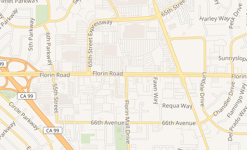 map of 6150 Florin RdSacramento, CA 95823