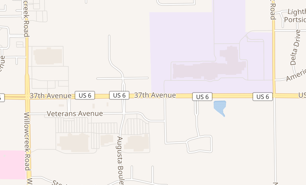 map of 6216 Us Highway 6Portage, IN 46368