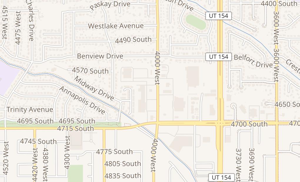 map of 4576 S 4000 WW Valley City, UT 84120