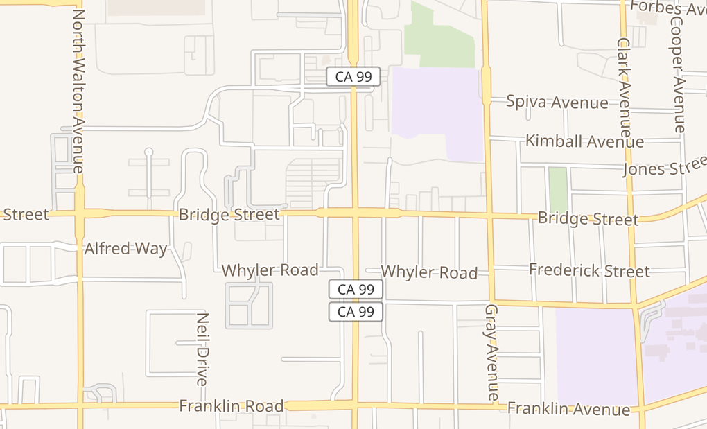 map of 1260 Bridge Street Suite 100Yuba City, CA 95991