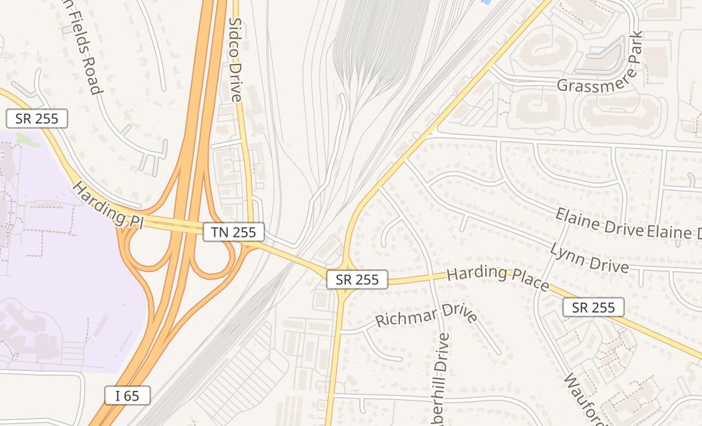 map of 4681 Trousdale DrNashville, TN 37204
