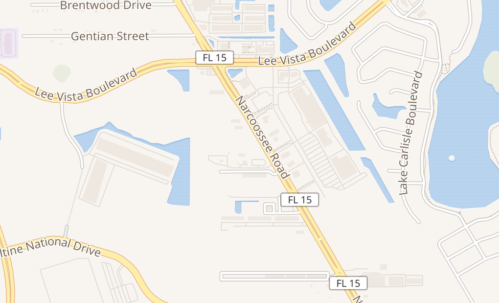 map of 7252 Narcoossee Rd Ste 102Orlando, FL 32822