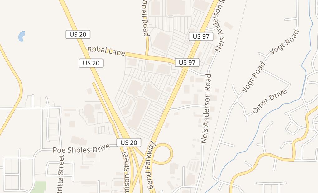 map of 63455 N Hwy 97 Ste 59Bend, OR 97701