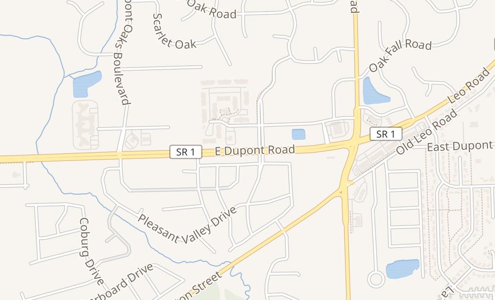 map of 5131 E Dupont RdFort Wayne, IN 46825