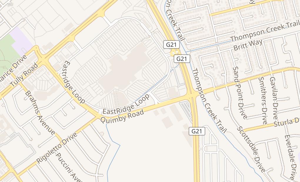 map of 2200 Eastridge Loop Spc K5520San Jose, CA 95122