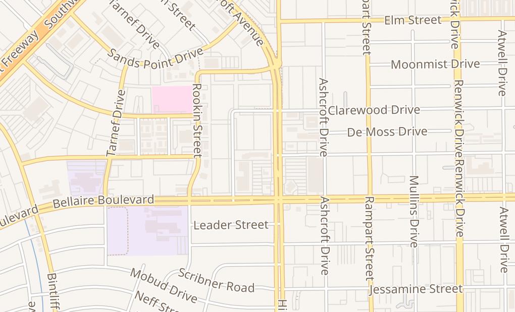 map of 6700 Hillcroft StHouston, TX 77081