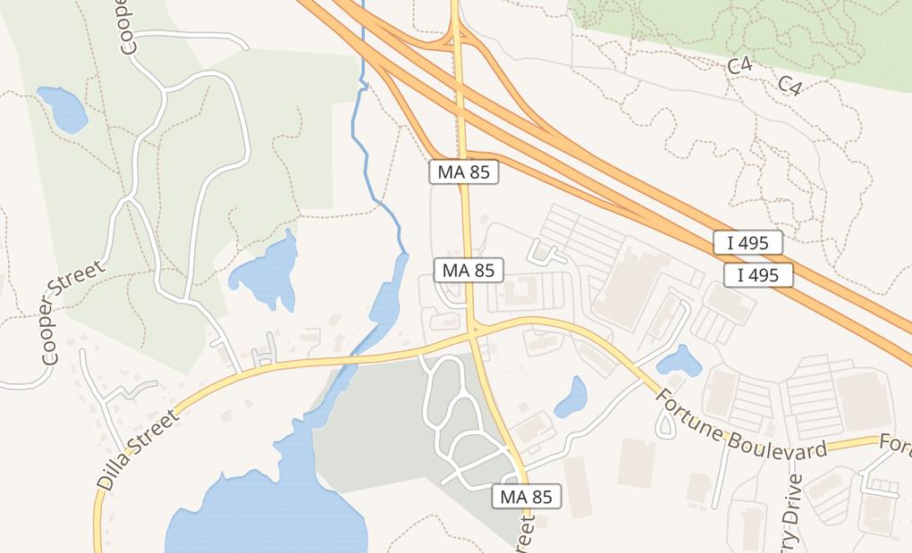 map of 130 Cedar StMilford, MA 01757