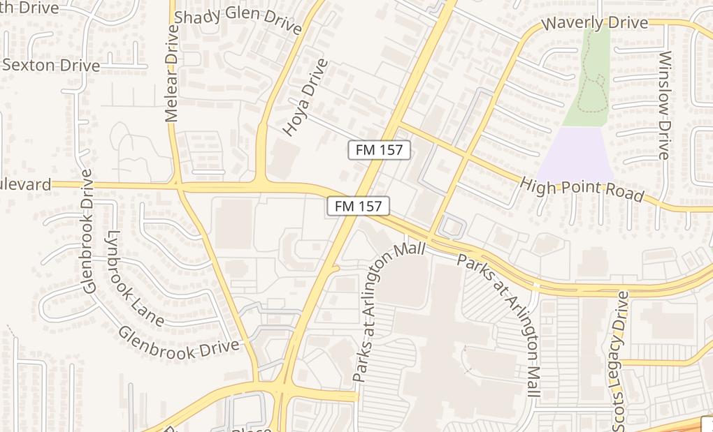 map of 3811 S Cooper St Spc 5531Arlington, TX 76015