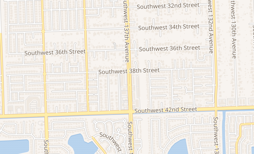 map of 3854 SW 137th AveMiami, FL 33175