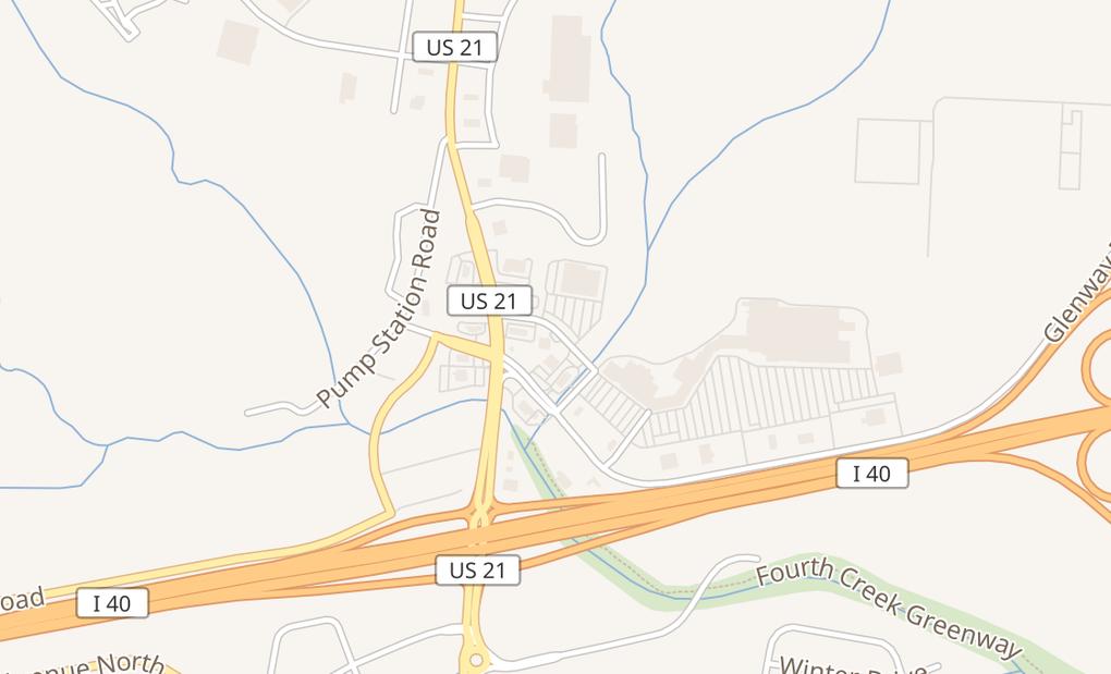 map of 1088 Crossroads DrStatesville, NC 28625