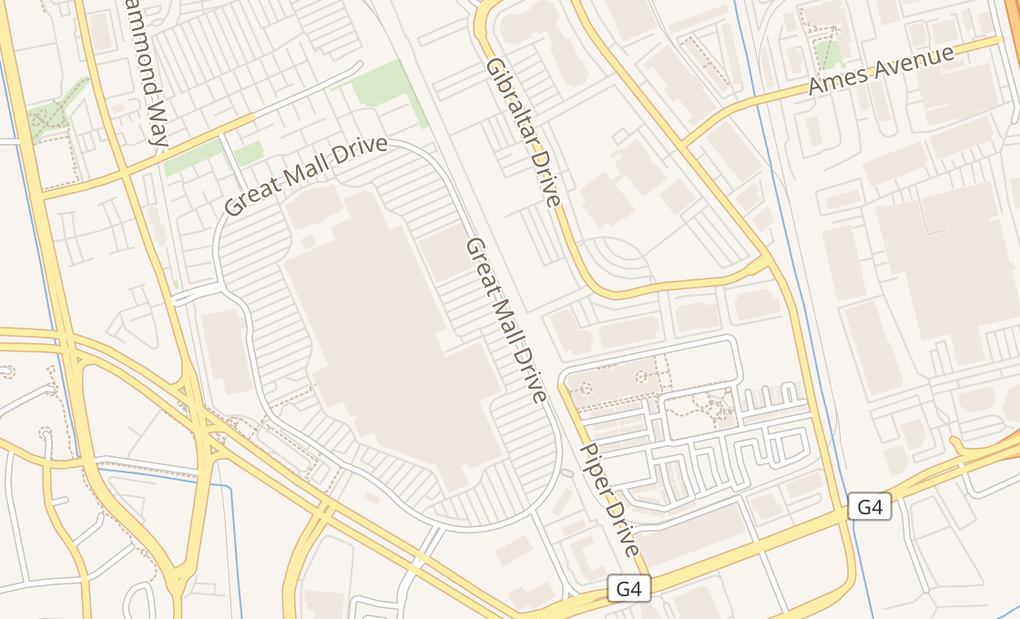 map of 447 Great Mall Dr Spc K17Milpitas, CA 95035