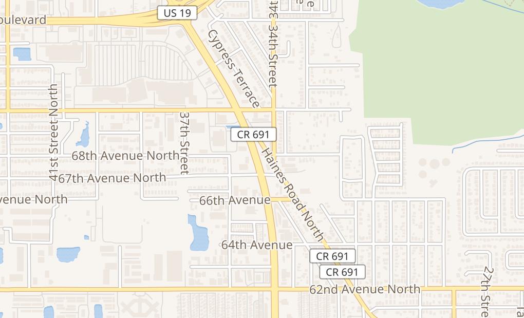 map of 6769 Us Highway 19 NPinellas Park, FL 33781