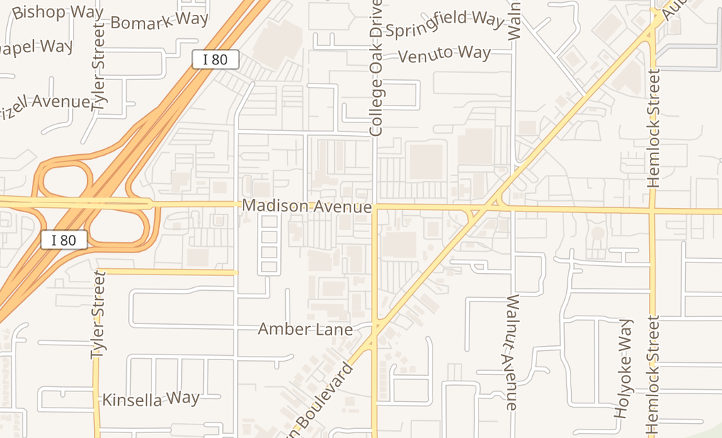 map of 4848 Madison Ave Ste CSacramento, CA 95841