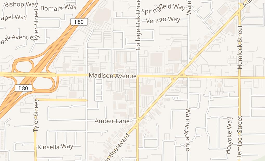 map of 4848 Madison Ave Ste CSacramento, CA 95841
