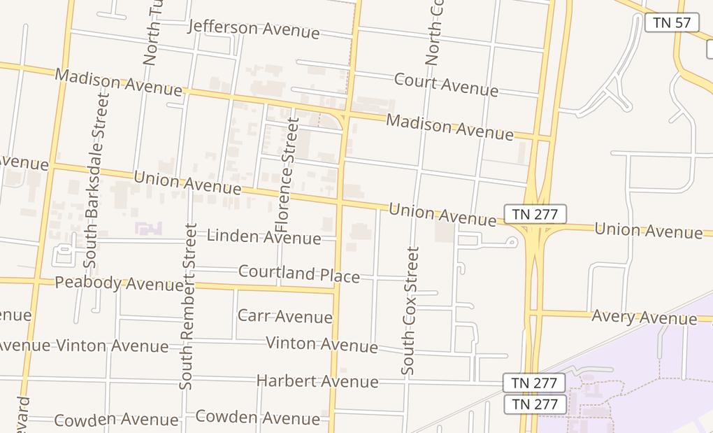 map of 2145 Union Ave # 105Memphis, TN 38104