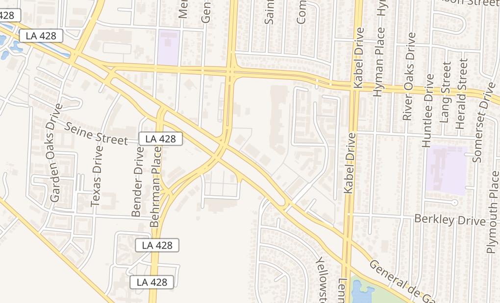map of 4100 General De Gaulle Ave #8New Orleans, LA 70131